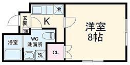 仮称)川崎区日進町新築マンション 4階1Kの間取り