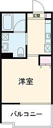東急田園都市線 桜新町駅 徒歩8分の賃貸マンション 3階1Kの間取り