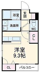 JR御殿場線 大岡駅 徒歩32分の賃貸アパート 1階ワンルームの間取り