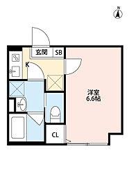 埼玉新都市交通 鉄道博物館(大成)駅 徒歩9分の賃貸アパート 2階1Kの間取り
