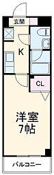 JR京浜東北・根岸線 西川口駅 徒歩3分の賃貸マンション 8階1Kの間取り