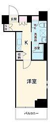 パティーナウィリア武蔵小杉 4階1Kの間取り