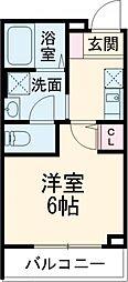 フェリーチェ東高円寺D 1階1Kの間取り