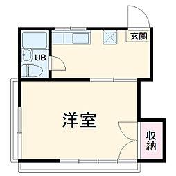 JR外房線 上総一ノ宮駅 徒歩30分の賃貸アパート 2階1Kの間取り