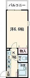 JR総武線 新小岩駅 徒歩7分の賃貸アパート 2階1Kの間取り