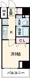 JR中央線 国立駅 徒歩2分の賃貸マンション 5階1Kの間取り