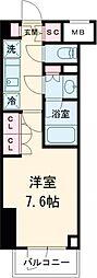 東急東横線 都立大学駅 徒歩8分の賃貸マンション 3階1Kの間取り