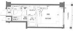 エルミタージュ蒲田南 4階1Kの間取り