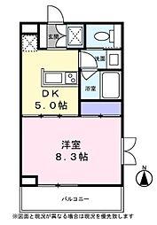 Blanc Ikegami 1階1DKの間取り