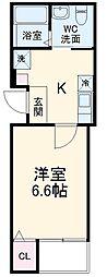 ハーミットクラブハウス日吉IV(仮) 1階1Kの間取り