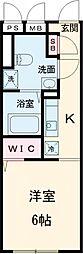東京メトロ有楽町線 地下鉄成増駅 徒歩4分の賃貸マンション 4階ワンルームの間取り