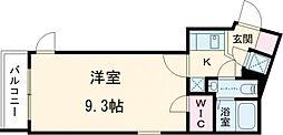 東武東上線 下赤塚駅 徒歩10分の賃貸マンション 地下2階1Kの間取り