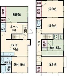 都電荒川線 都電雑司ヶ谷駅 徒歩3分の賃貸一戸建て 1階6DKの間取り