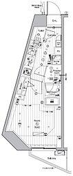 JR山手線 池袋駅 徒歩13分の賃貸マンション 5階ワンルームの間取り