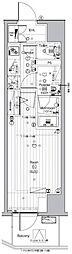 JR山手線 池袋駅 徒歩13分の賃貸マンション 8階1Kの間取り