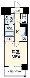 名古屋市営鶴舞線 浅間町駅 徒歩8分の賃貸マンション 10階1Kの間取り
