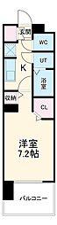 名古屋市営名城線 黒川駅 徒歩4分の賃貸マンション 4階1Kの間取り