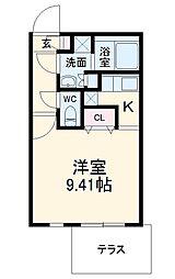 名古屋市営鶴舞線 浄心駅 徒歩2分の賃貸マンション 1階1Kの間取り
