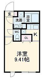 名古屋市営鶴舞線 浄心駅 徒歩2分の賃貸マンション 5階1Kの間取り