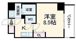 名古屋市営桜通線 高岳駅 徒歩8分の賃貸マンション 10階1Kの間取り