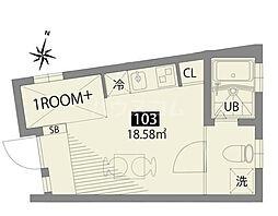 小田急小田原線 豪徳寺駅 徒歩6分の賃貸アパート 1階ワンルームの間取り