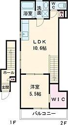 (仮称)渋谷区本町2丁目計画 2階1LDKの間取り