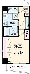 東京メトロ千代田線 北千住駅 徒歩12分の賃貸マンション 3階1Kの間取り