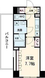 東京メトロ千代田線 北千住駅 徒歩12分の賃貸マンション 5階1Kの間取り