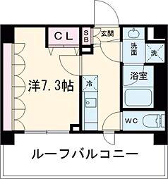 東京メトロ千代田線 北千住駅 徒歩12分の賃貸マンション 7階1Kの間取り