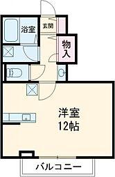 仮)ベルフォーレ小金井公園 2階ワンルームの間取り