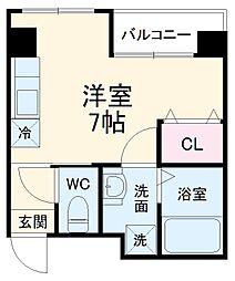 ラ・トゥール船橋TOKYO- BAY 1階1Kの間取り