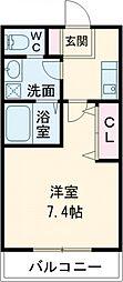 (仮称)西加平2丁目マンション 1階1Kの間取り