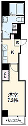 名古屋市営桜通線 桜山駅 徒歩1分の賃貸マンション 6階1Kの間取り