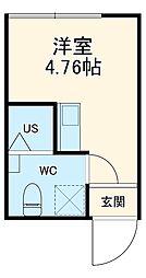 クラーニヒ ハウス 3階1Kの間取り