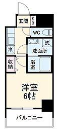 京急本線 京急鶴見駅 徒歩6分の賃貸マンション 1Kの間取り