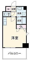 JR鹿児島本線 竹下駅 徒歩13分の賃貸マンション 6階1Kの間取り