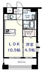 JR鹿児島本線 吉塚駅 徒歩10分の賃貸マンション 7階1LDKの間取り
