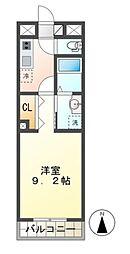 JR総武本線 都賀駅 徒歩8分の賃貸マンション 2階1Kの間取り