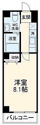 京福電気鉄道北野線 北野白梅町駅 徒歩30分の賃貸マンション 1階1Kの間取り