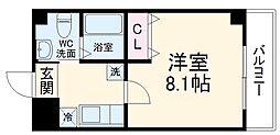 仮称)梅津神田町共同住宅 2階1Kの間取り