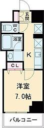 クレストコート志村坂上 11階1Kの間取り