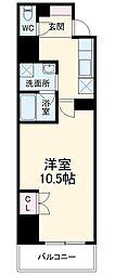 (仮称)香流橋1丁目マンション 4階1Kの間取り