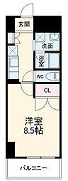 (仮称)香流橋1丁目マンション 6階1Kの間取り