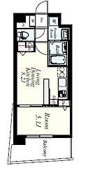 JR香椎線 宇美駅 徒歩35分の賃貸マンション 3階1LDKの間取り