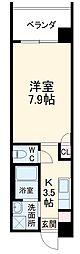 沖縄都市モノレール おもろまち駅 8kmの賃貸マンション 4階1Kの間取り