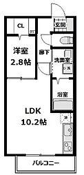 レフィーノ(REFINO) 2階1LDKの間取り