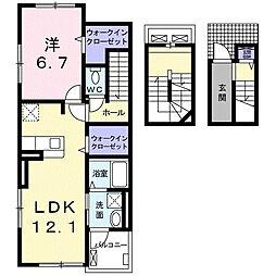 ベル グランツ 3階1LDKの間取り