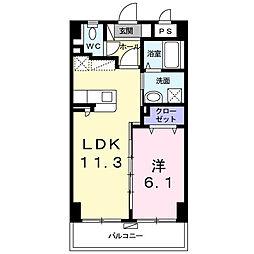 シャルマン リヴェール 4階1LDKの間取り