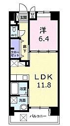 モダンテラス中央 3階1LDKの間取り