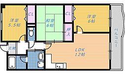 メゾンリーガル48[3階]の間取り